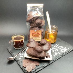 CAKE AU MIEL - GÂTEAUX AU MIEL - BISCUITS AU MIEL  Madeleine au Miel enrobée de Chocolat 200 gr