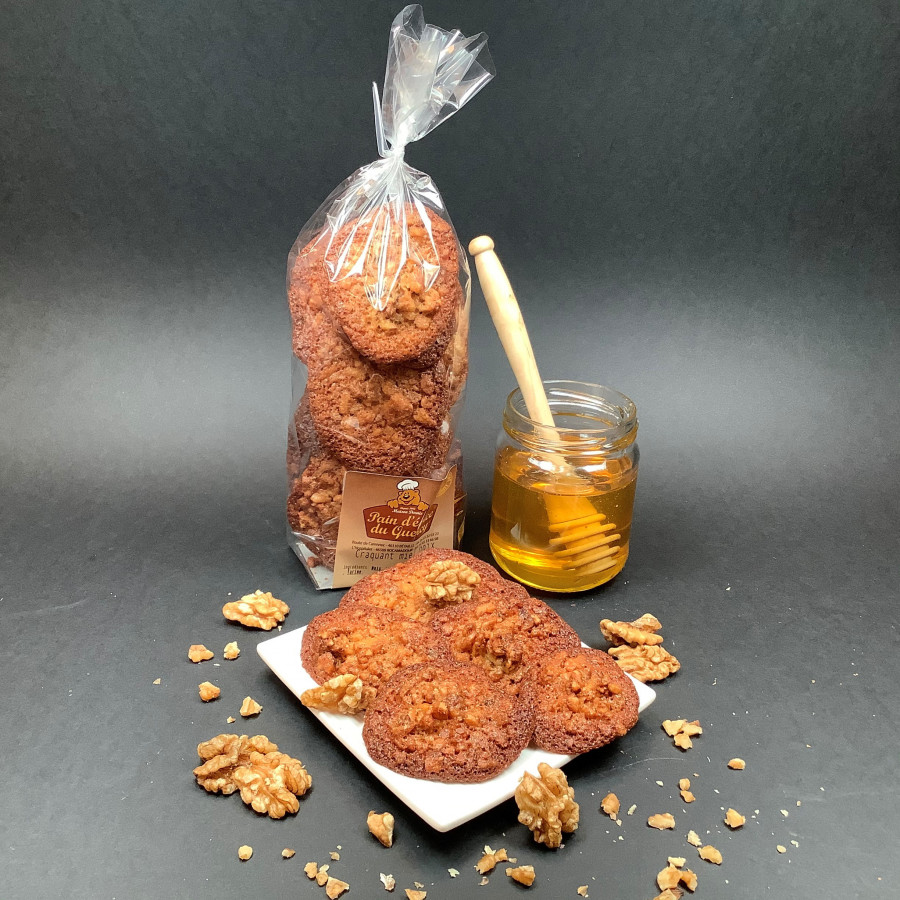CAKE AU MIEL - GÂTEAUX AU MIEL - BUISCUITS AU MIEL  Craquant au Miel et aux Noix 150 gr