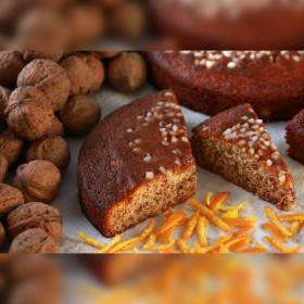CAKE AU MIEL - GÂTEAUX AU MIEL - BUISCUITS AU MIEL  GÂTEAU MIEL NOIX ORANGE