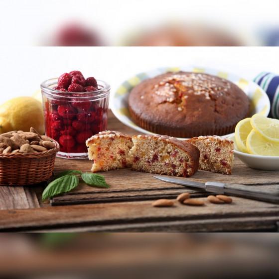 CAKE AU MIEL - GÂTEAUX AU MIEL - BUISCUITS AU MIEL  GÂTEAU MIEL FRAMBOISE CITRON AMANDE