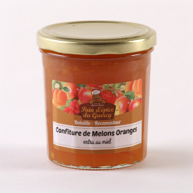 CONFITURES ET TARTINES  CONFITURE EXTRA AU MIEL MELON ORANGE